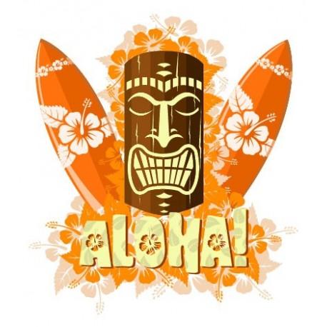 adhesivo decorativo Aloha Surf Escaparate