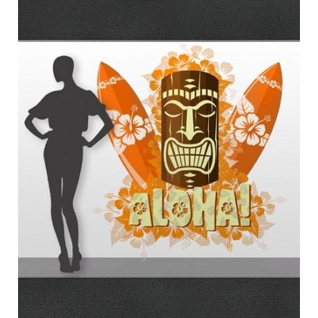 vinilos imagen producto Aloha Surf Escaparate