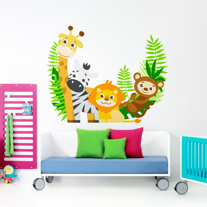 Vinilo animales selva divertidos for Vinilos infantiles animales