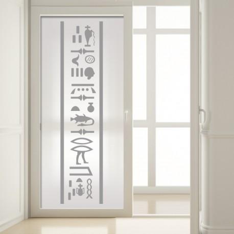 vinilo para cristal motivo egipcio en ambiente