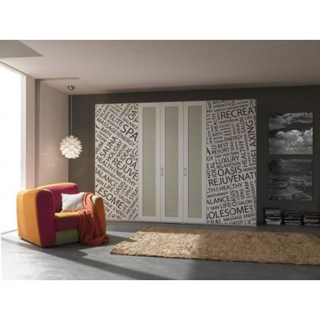 Vinilo estampado texto para armario for Adhesivos decorativos para muebles