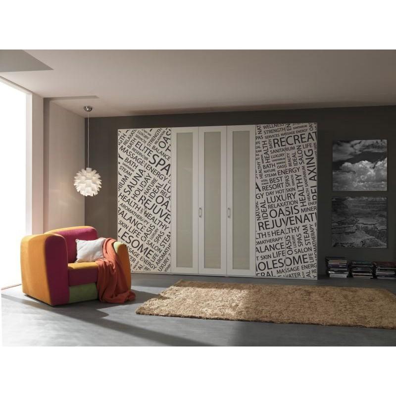 Vinilo estampado texto para armario for Pegatinas para muebles