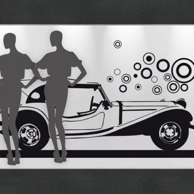 Retro Car Escaparate producto vinilos