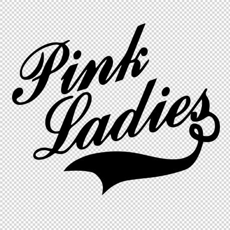 Pegatina grease pink ladies