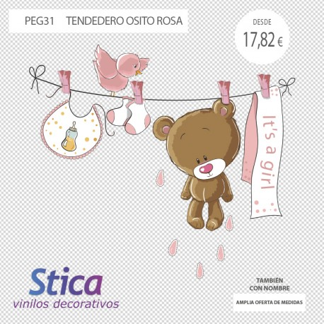 vinilo oso en venta en rosa