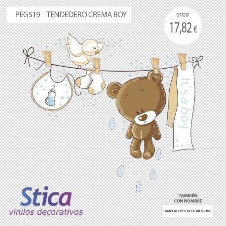 vinilo oso en venta en color crema