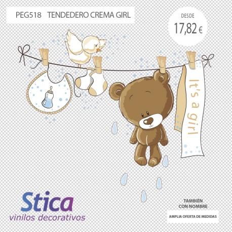 vinilo osos en venta en color crema chica