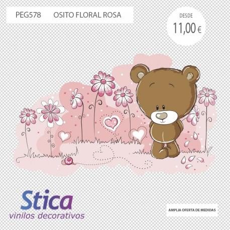 vinilo oso floral en venta