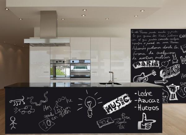 Pizarras adhesivas stica vinilos decorativos - Pared pizarra cocina ...