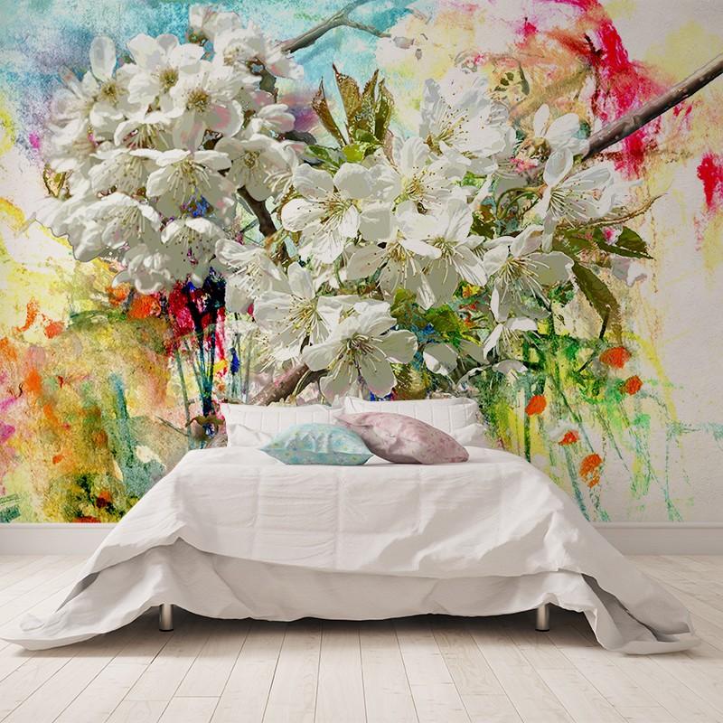 decoración floral en dormitorio imagen