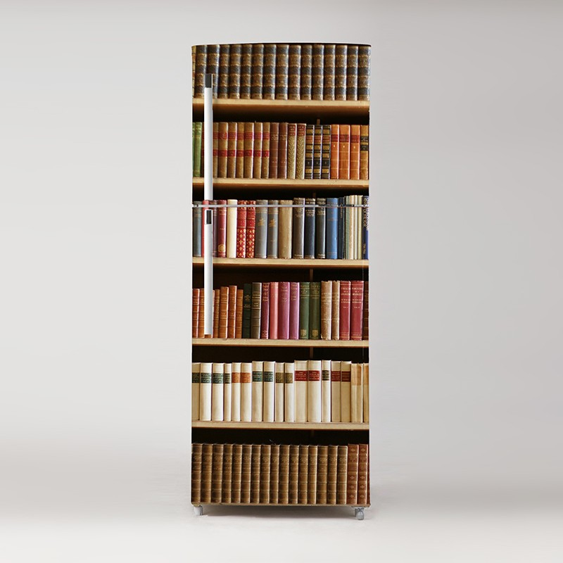 vinilo-para-frigo-biblioteca-trampantojo