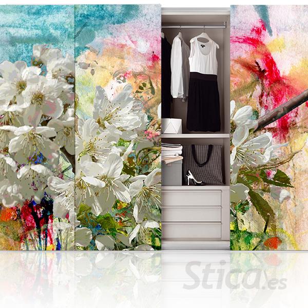decorar puertas de armario con vinilo