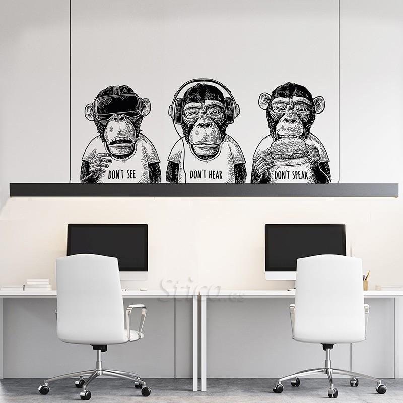 Vinilo transparente en pared ambiente oficinas